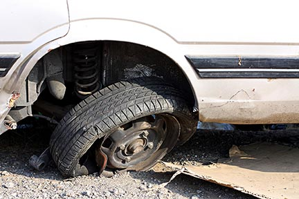 Blown out tires are one of the many hazards that are part of the daily commute in but sometimes they are caused by a defective product. If part of your car has failed and caused an injury, contact a products liability lawyer today.